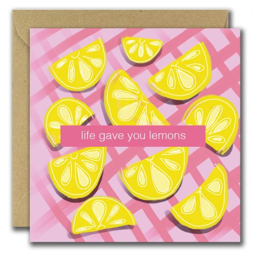 greeting card with lemon images and text life gave you lemons