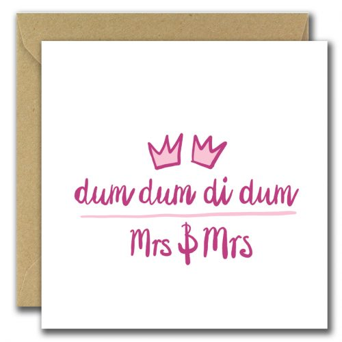 wedding greeting card for misses and misses