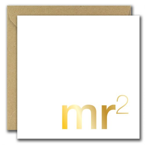 wedding greeting card with text mister two