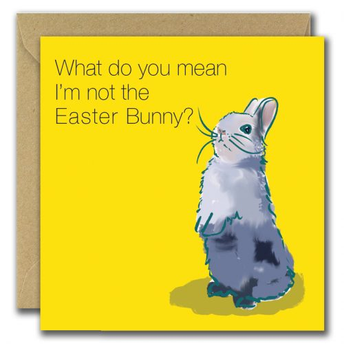 easter greeting card with image of easter bunny