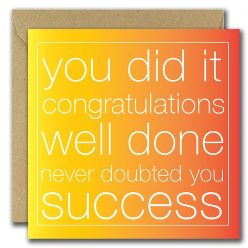 good luck greeting card with text