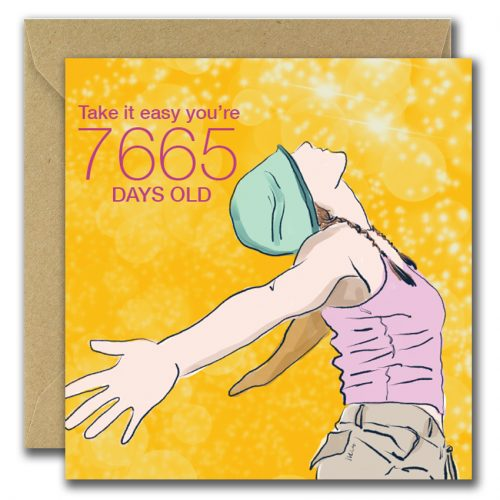 21st Birthday You're How Many days old Greeting card
