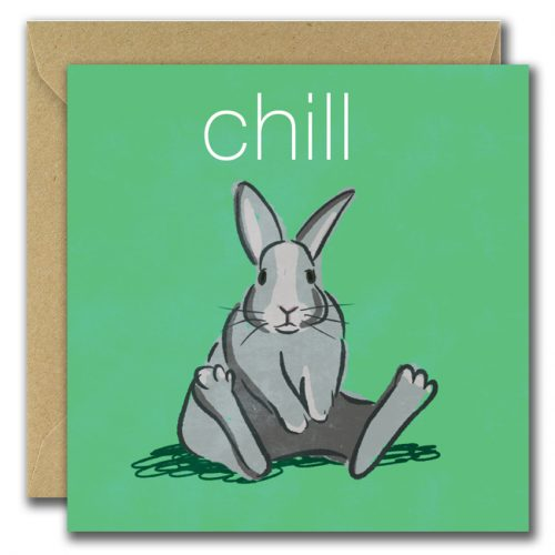 Chill bunny greeting card