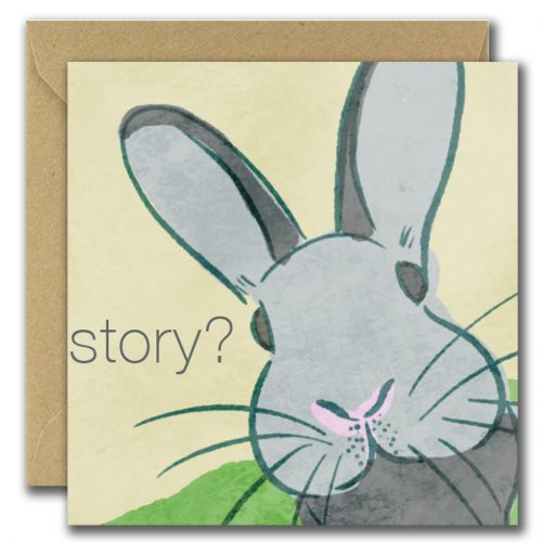Story? Blank inside greeting card