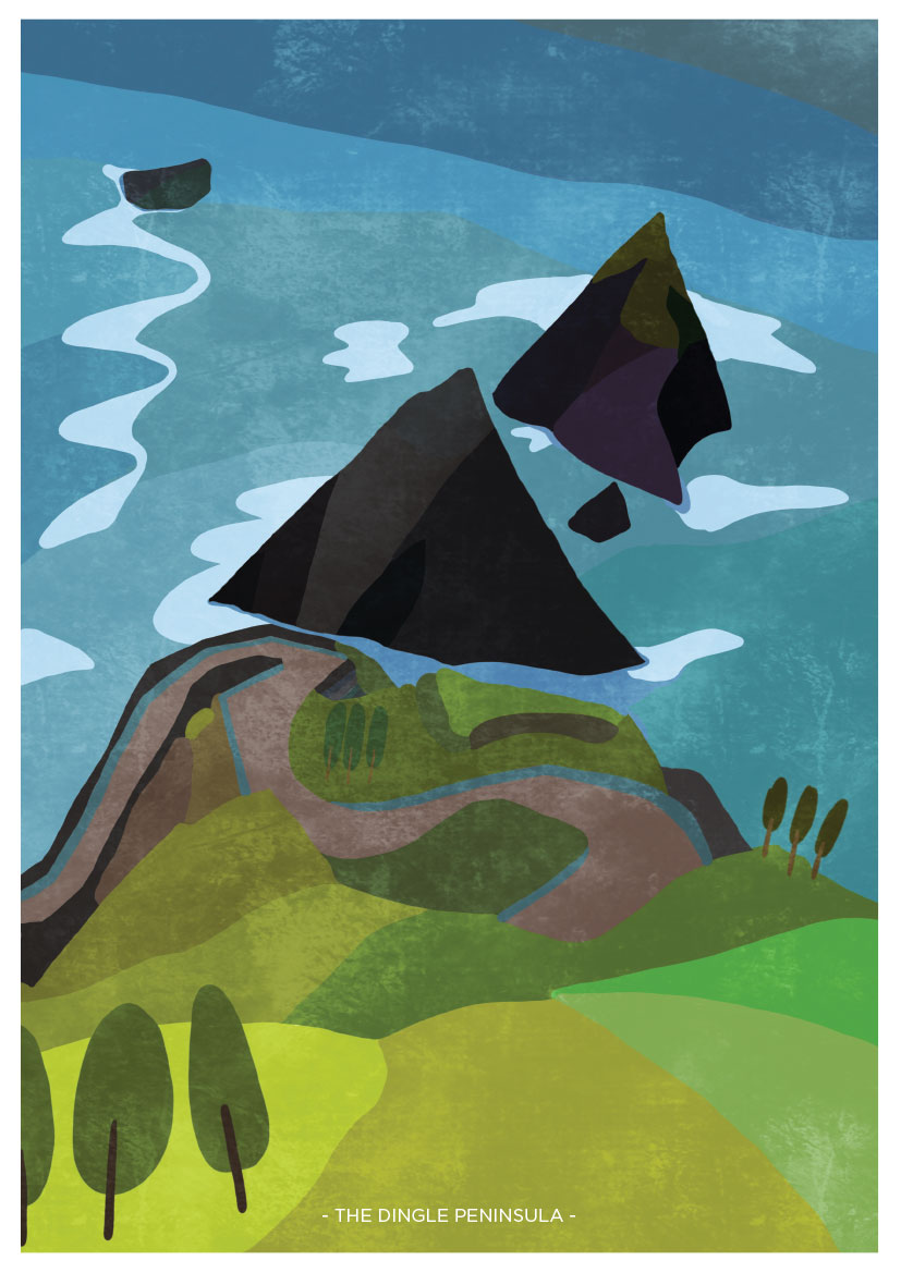 Art Print showing a view of The Dingle Peninsula