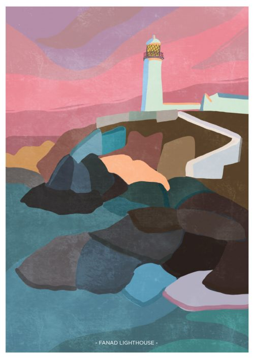 Art Print depicting Fanad Lighthouse