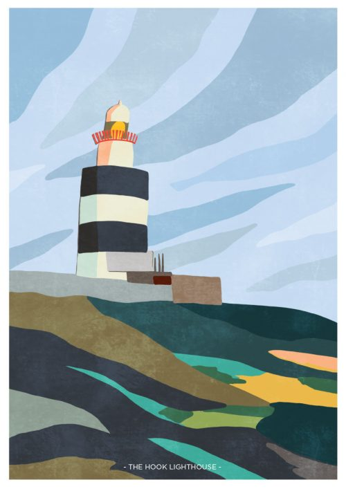 Art Print depicting Hook Lighthouse