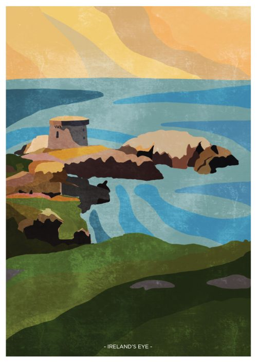 Art print showing Ireland's Eye