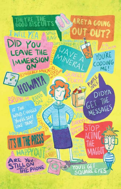 Irish Mammy sayings illustration