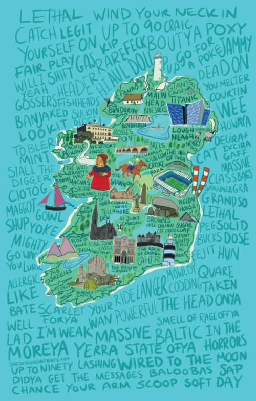 Irish map slang illustration