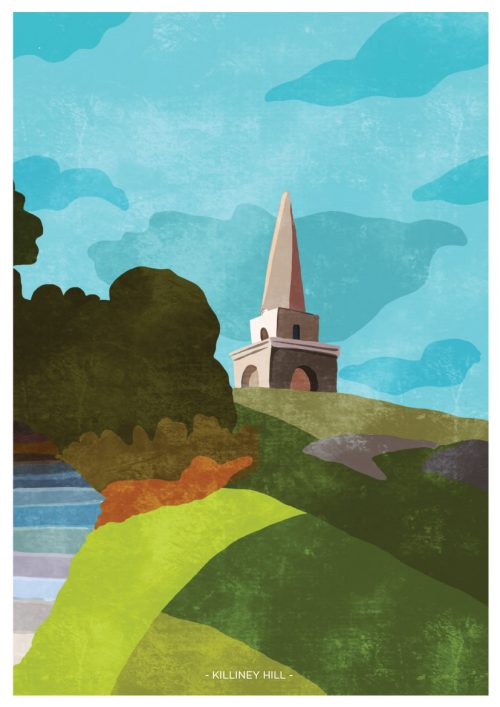 Art Print depicting Killiney Hill