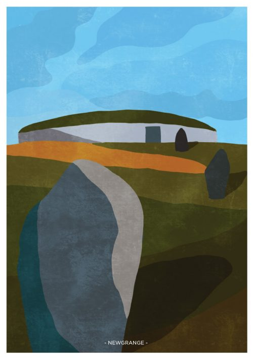 Art Print showing Newgrange