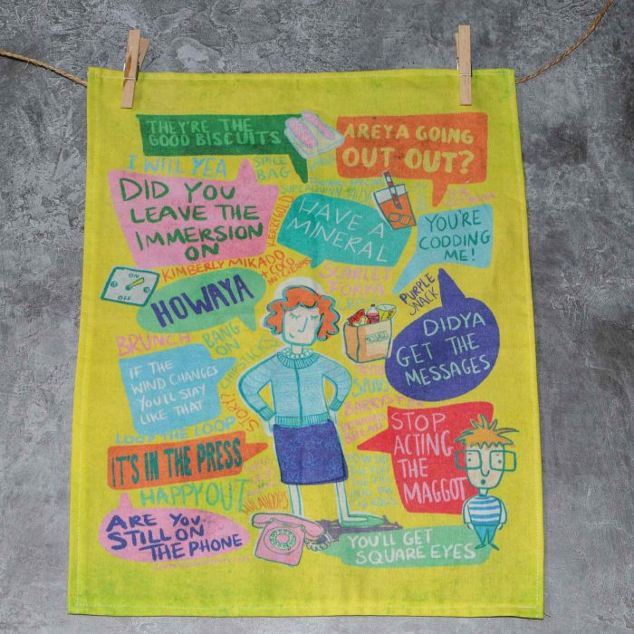 Mammy tea towel hanging