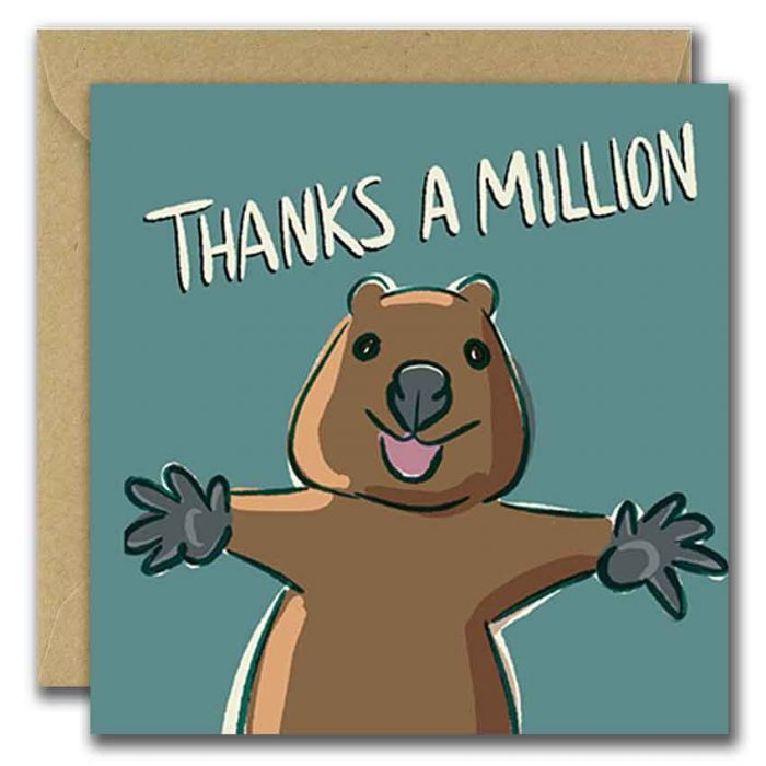 Thanks A Million Greeting Card