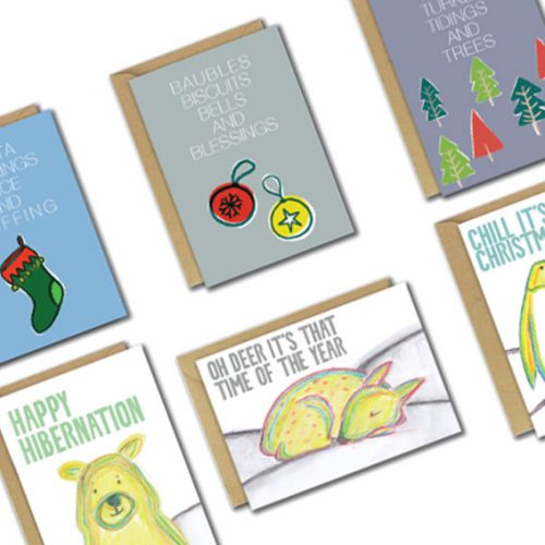6 card pack angled christmas cards