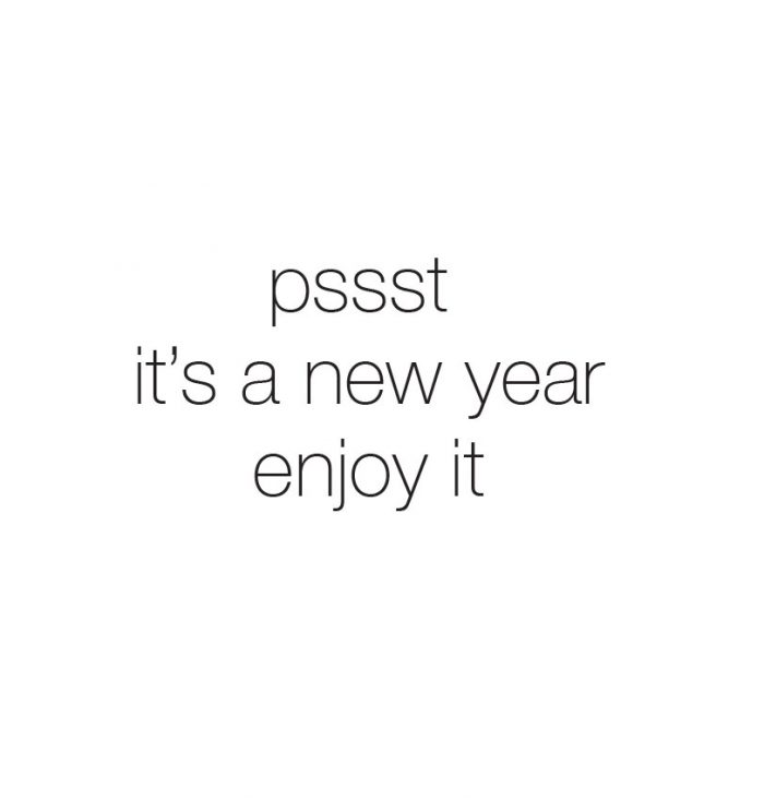 psst its a new year enjoy it greeting card message