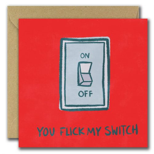 You Flick my switch greeting card