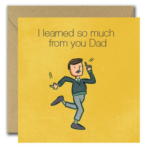 Dad Dancing fathers day card