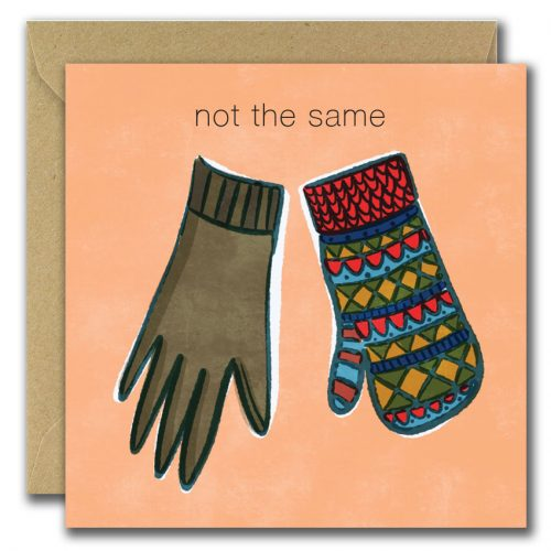 gloves illustration from greeting card
