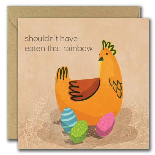 shouldnt have eaten that rainbow easter card