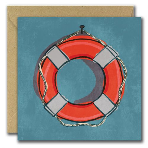 You're a lifesaver illustrated card with picture of lifepreserver ring
